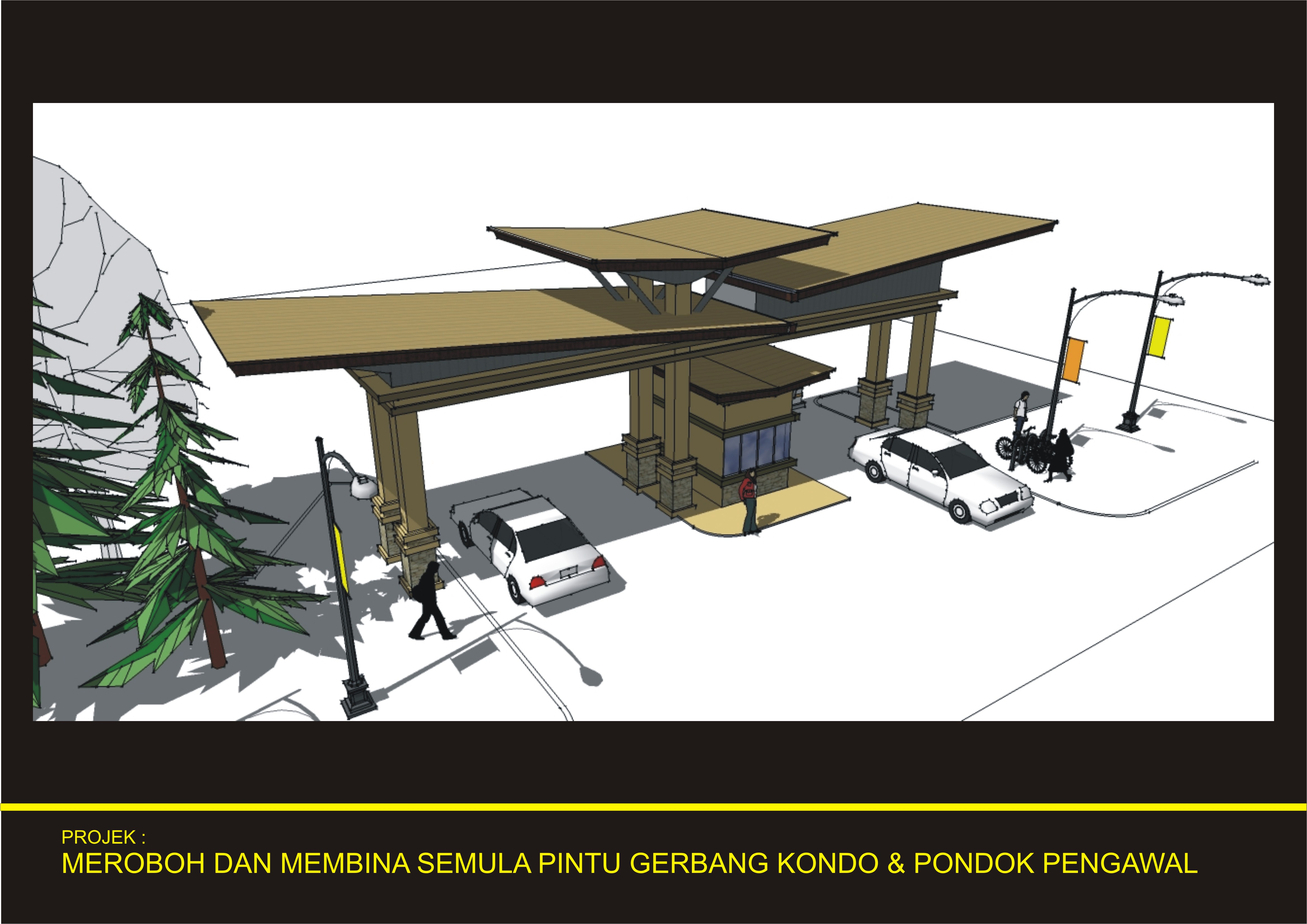The 3d Design On The Guardhouse Prima Setapak Condo